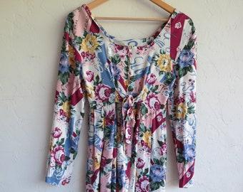 Floral Grunge Dress