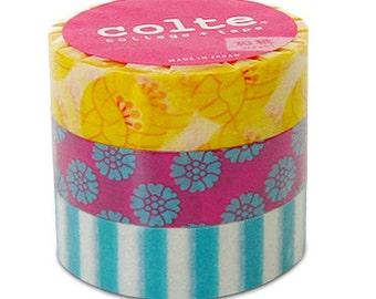 Colte Washi Masking Tape - Tulip Yellow - Set 3