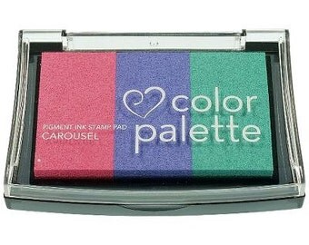 Color Palette - Multicolour Paper Ink Stamp Pad - Carousel