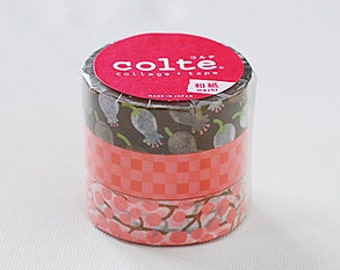 Colte Washi Masking Tape - Lily of the Valley Pink - Set 3