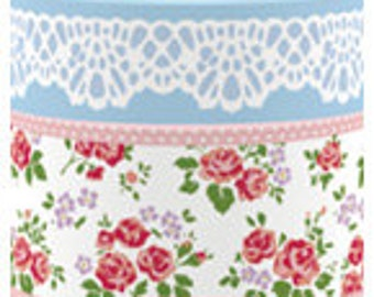 Funtape Masking Tape - Lace & Rose - Wide Set 2