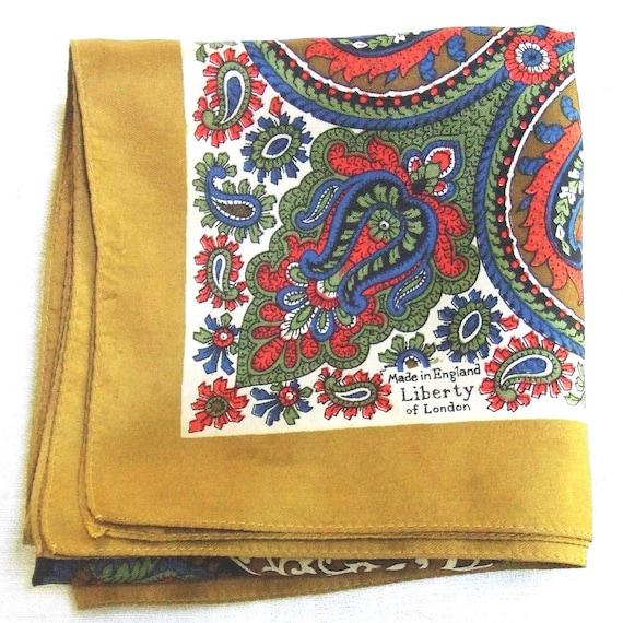 Vintage Liberty of London Paisley Silk Scarf