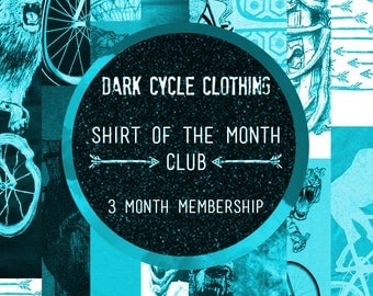 Dark Cycle Shirt of the Month Club - 3 Pre-Released Designs on American Apparel