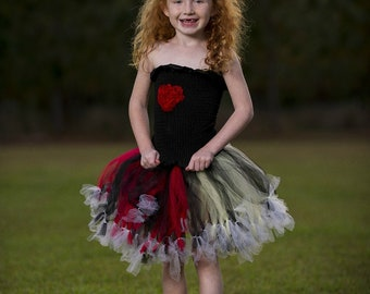 Queen of Heart Tutu skirt Set. Photo Props, Petti tutu, custom made you choose your colors