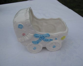 Vintage Nursery Childs Room Baby Buggy Planter