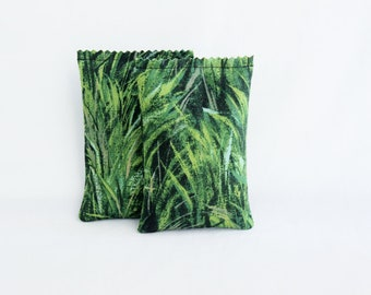 Forest Green Balsam Scented Drawer Sachets, Woodland Grasses