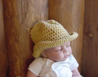 Baby Cowboy Hat, 3 to 6  Months, Photo Prop
