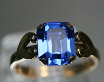 Vintage 10k Gold Filled and Glass Stone Ring- Clark & Coombs