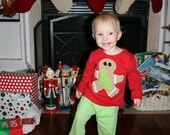 Christmas Pajama Set with Gingerbread boy and girl Christmas Pajamas for boys and girls brothers and sisters