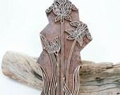 Sale Indian Wood Stamp Flower