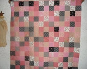 Quilt Top   (Pinks and Blacks) The cutting and piecing is all done.