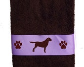 Labrador Retriever Dog Heavy Cotton Bath Towel - Dogs and Paws with or without name