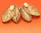 silvertone clip-on earrings made in Germany