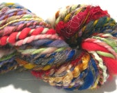 HALF OFF SALE Handspun Yarn Waste Not, Want Not  B  2 ply yarn bulky super bulky, 71 yards