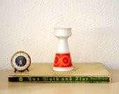 Vintage Schumann Arzberg Bavaria candle holder orange red Germany