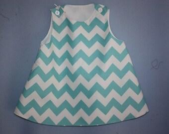 Chevron Aline Dress top   size 9 mo to size 3
