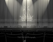 The Theatre Fine Art Photography Dramatic lighting vaudeville audience  Home Decor for the Actor or Drama and Black and white art lover