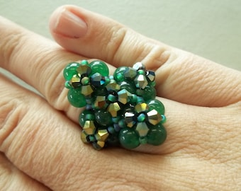 KIT Deluxe Diamond Ring Green Colors