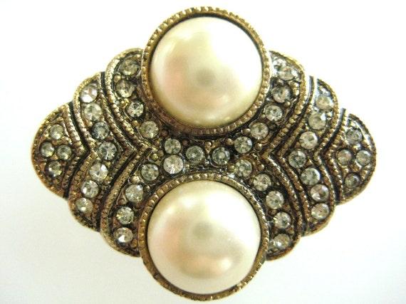 Vintage Hobe' Art Deco Pearl Keeper-Enhancer