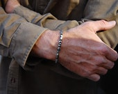 Superman-Men's Sterling Silver Chain Bracelet, Sterling Silver Cuff, Men's Bracelet, Women's Bracelet