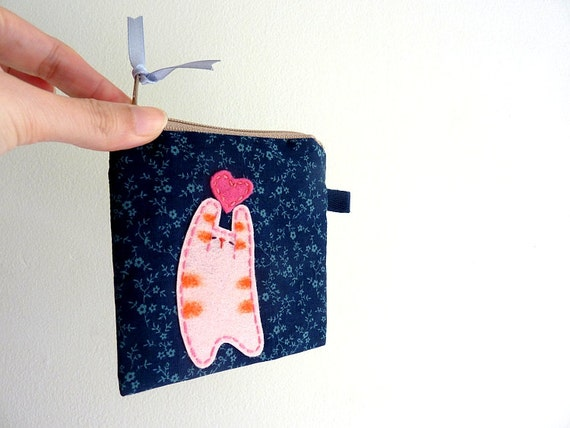 Cat Coin Purse, Purse, Coin Zipper Pouch, Cat Purse
