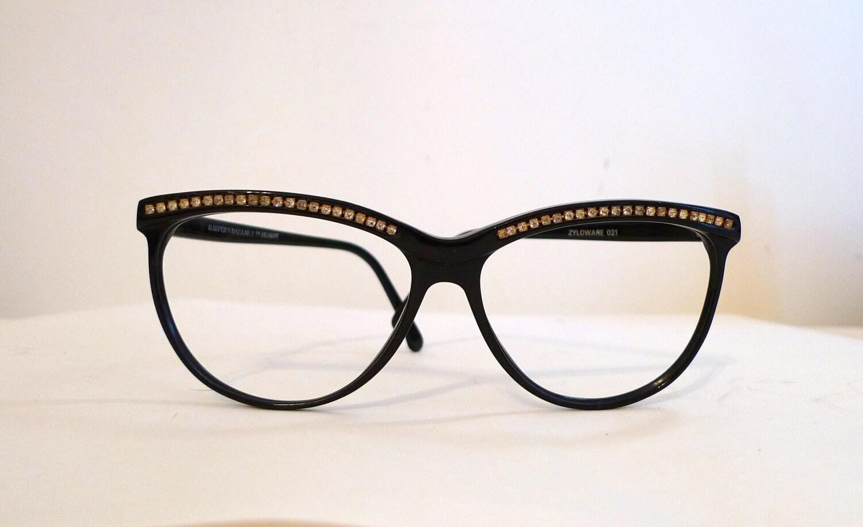 db0acea87a BIG Vintage Black Cat Eye Sunglasses or EyeGlasses