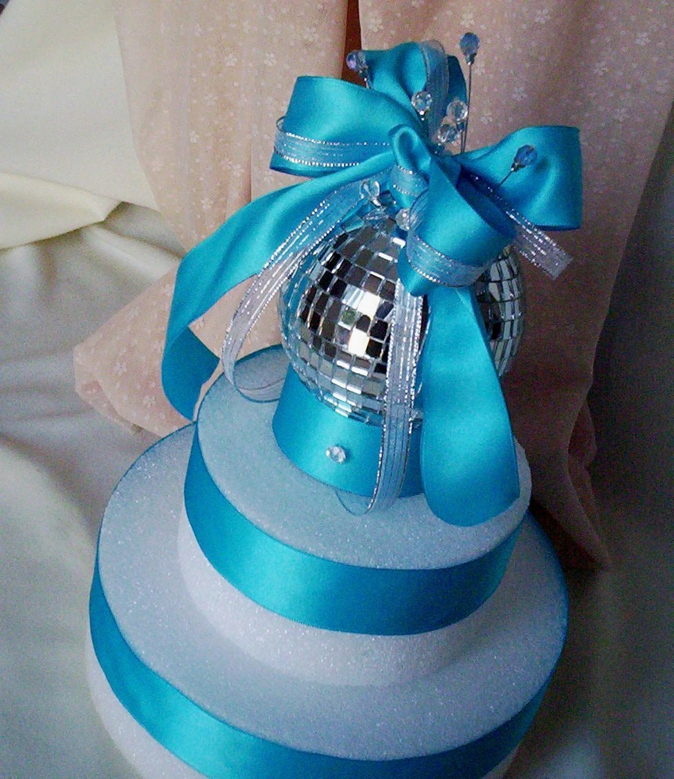 Cake Decorating Disco Ball : Mirror Ball Cake Topper Disco Birthday Parties Turquoise