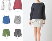Designer Skirt Shorts and Pullover Top - Simplicity 2192 - New Sewing Pattern, Sz 4-12