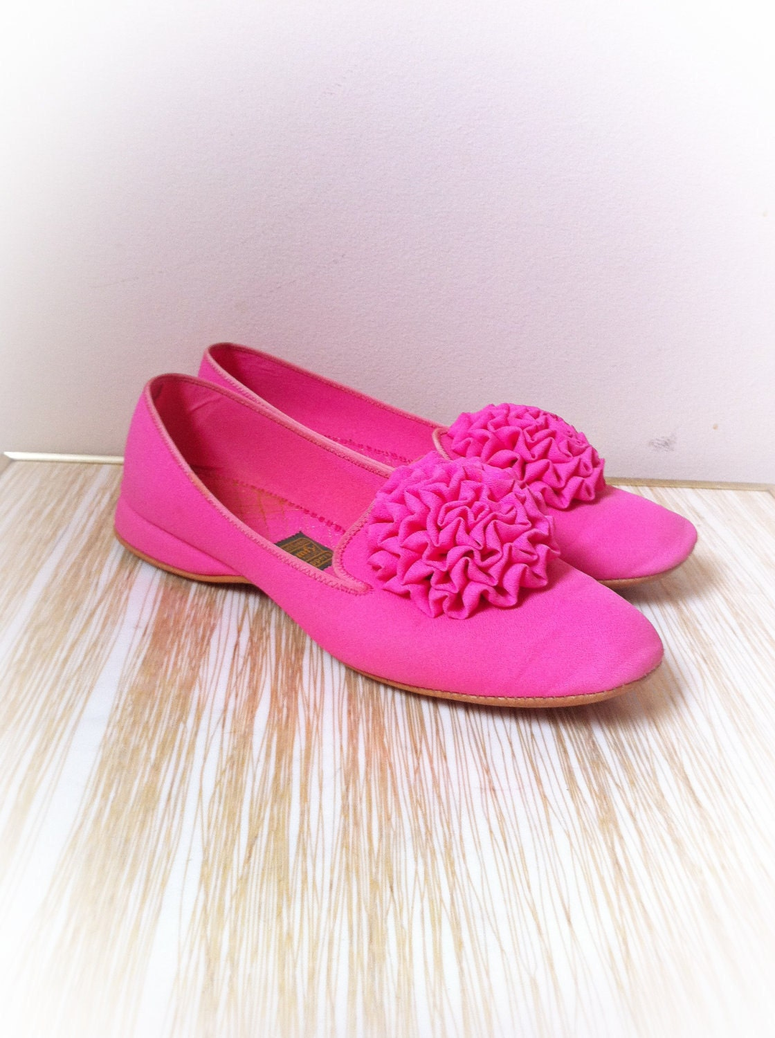 vintage daniel green slippers pink house shoes by