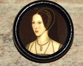 Tudor Queen ANNE BOLEYN Tie Tack or Ring or Brooch pin or Pendant