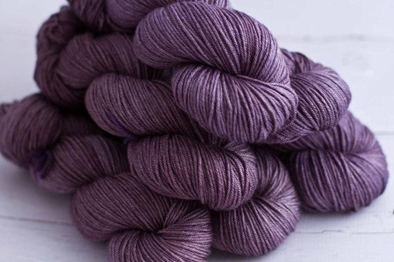 silk - superwash merino 50/50 'vintage violet'