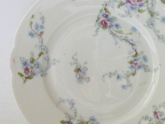 Vintage Decorative French Farmhouse Plate Limoges Made in France