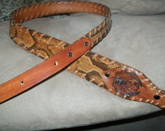 Boa Constrictor Rock Python Snake Skin Rifle Sling with Your Initials