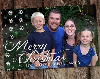 Custom Photo Christmas Card