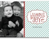 Wishing You Joy Custom Photo Card