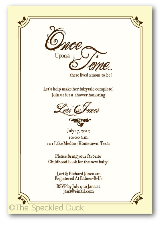 once upon a time baby shower invitations car interior design