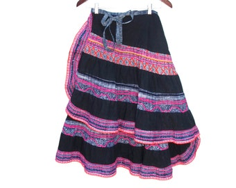 Boho Hippie Wrap Around Skirt