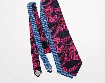 1970s Wide Wild Ties Ralph Daves Davis Neckties Fat Ties