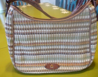 SALE Classic Woven Etienne Aigner Summer Purse