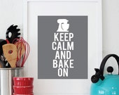 8x10 Keep Calm and Bake On print Custom Colors