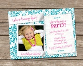 Polaroid Snap Shot Girl Birthday Invitation