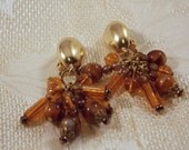 Erwin Pearl Earrings with amber  glass beads Sale