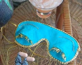 Breakfast at Tiffany's Inspired Sleeping Mask and Tassle Ear Plugs