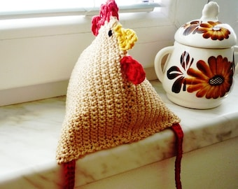 Crochet Hen Pattern - Crochet Bird Diy - Crochet Pattern Bird - Chicken Pattern - Crochet Hen Toy - Easter Decor -  Rustic Kitchen Decor