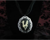Burlesque on the trapeze cameo necklace