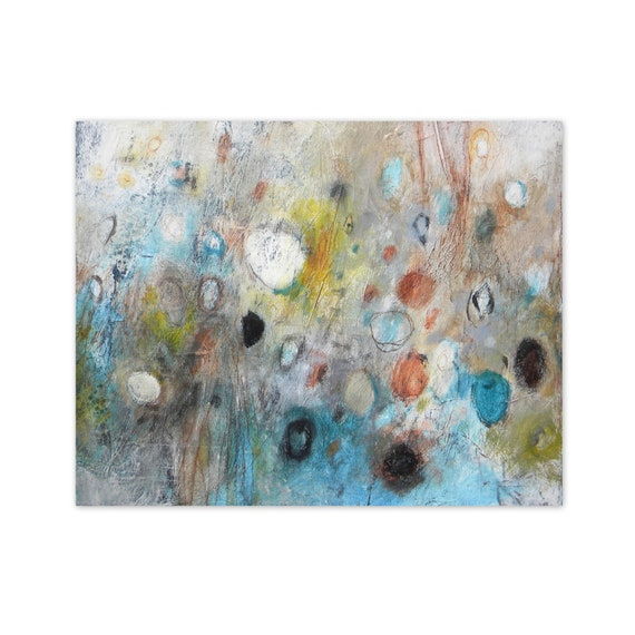 16x20 canvas art original abstract painting contemporary - Earthly Secrets