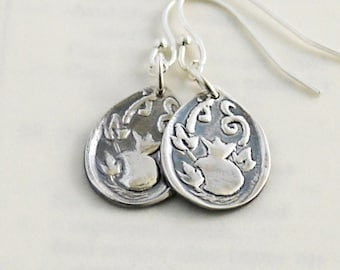 God Provides Earrings in Fine Silver and Sterling Silver