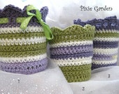 Pixie Garden container cozies, set of 3, for recycled large yogurt containers