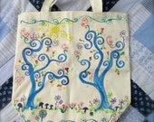 Forest Retreat collection, painted bag with bookmark, cards, and more, Summer Sanctuary set