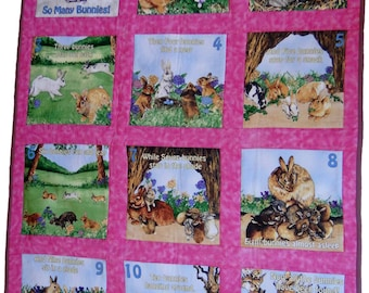 So many Bunnies where can they be, play mat,or quilt, educational.